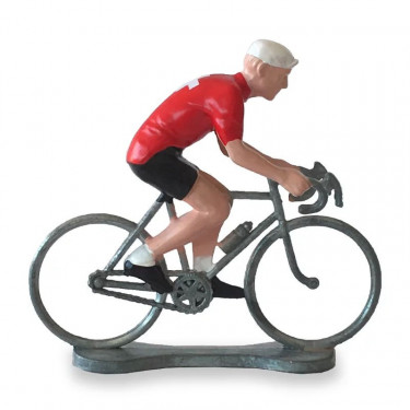 Figurine cycliste maillot Suisse _ Bernard & Eddy