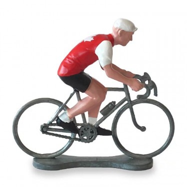 Figurine cycliste maillot Canada _ Bernard & Eddy