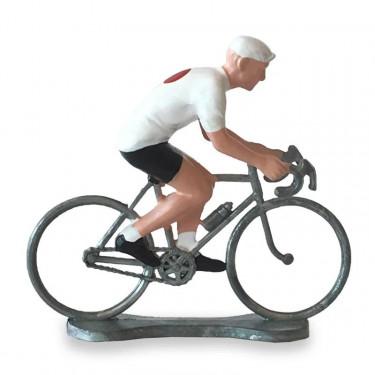 Figurine cycliste maillot Japon _ Bernard & Eddy