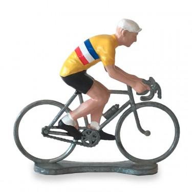 Figurine cycliste maillot 'Tour de France' _ Bernard & Eddy
