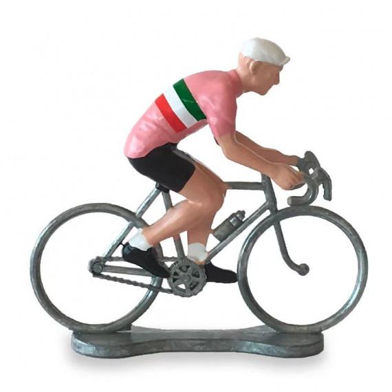 Figurine cycliste maillot 'Tour d'Italie' _ Bernard & Eddy