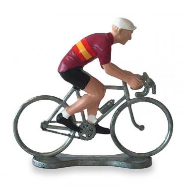 Figurine cycliste maillot 'Tour d'Espagne' _ Bernard & Eddy