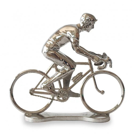 Figurine cycliste d'argent _ Bernard & Eddy