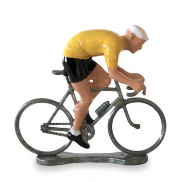 Figurine cycliste sprinteur maillot jaune_ Bernard & Eddy