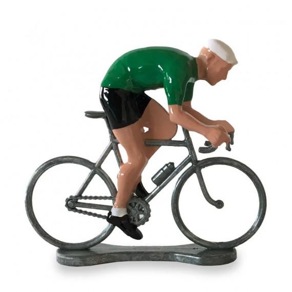 Figurine cycliste sprinteur maillot vert _ Bernard & Eddy