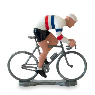 Figurine cycliste sprinteur maillot France _ Bernard & Eddy