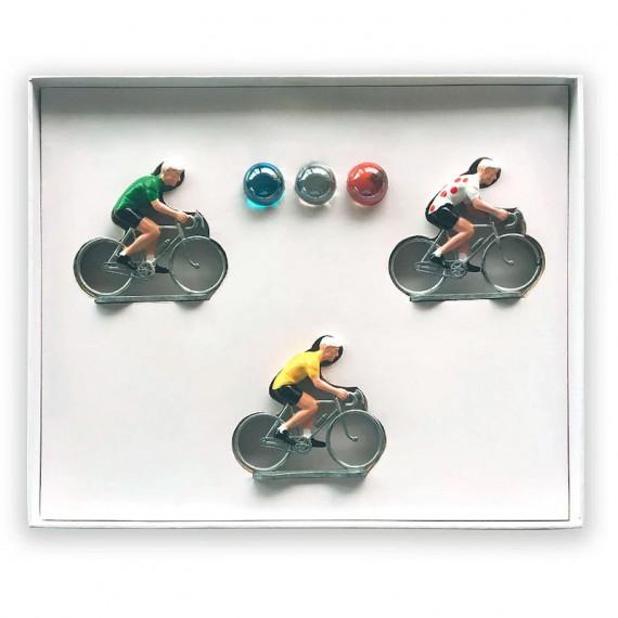 Coffret jeu 3 cyclistes _ Bernard & Eddy