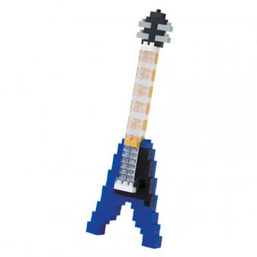Guitare électrique bleue nanoblock