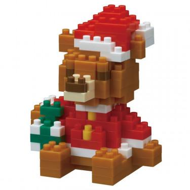 Ours de Noël avec cadeau nanoblock
