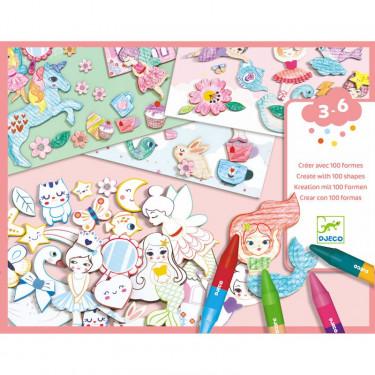 """Créer avec des formes """"Un monde à créer, filles"""" DJECO 8996"""