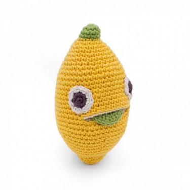 "Hochet citron en crochet ""The veggy toys"", coton bio"