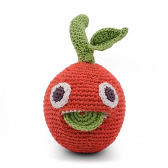 """Hochet clémentine en crochet """"The veggy toys"""", coton bio"""