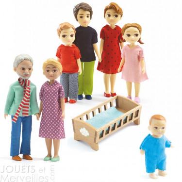 Pack famille de poupées Djeco Thomas & Marion