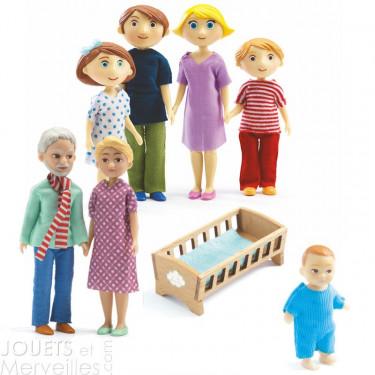 Pack famille de poupées Djeco Gaspard & Romy