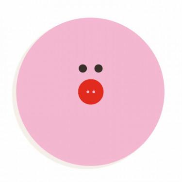Lettre O en bois DJECO Animaux graphiques / rose