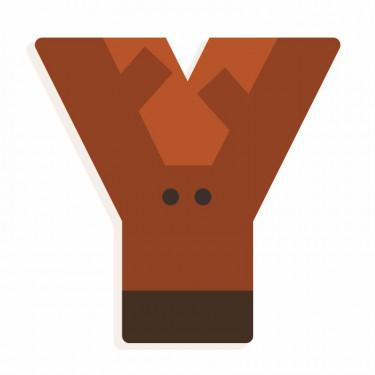 Lettre Y en bois DJECO Animaux graphiques