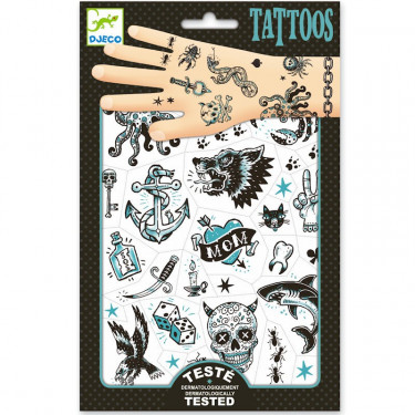 Tatouages 'Dark side' DJECO 9594