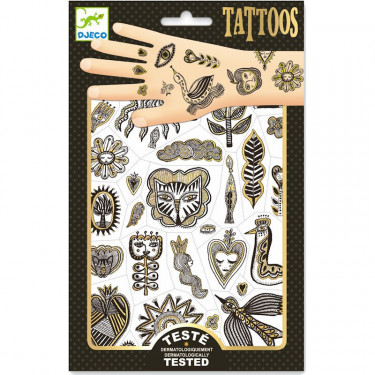 Tatouages 'Golden chic' DJECO 9595