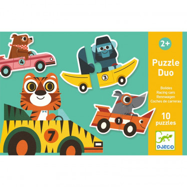 Puzzle duo 'Bolides' 10 x 2 pcs DJECO 8148