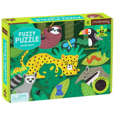 Puzzle tactile 'Forêt tropicale' 42 pcs Mudpuppy
