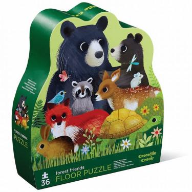 Puzzle 36 pcs 'Les amis de la forêt' CROCODILE CREEK