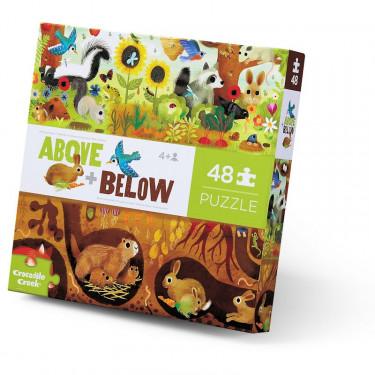Puzzle dessus-dessous 'Animaux du jardin' 48 pcs CROCODILE CREEK