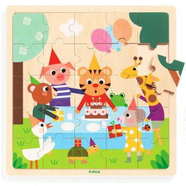 Puzzle en bois 'Puzzlo Happy' 25 pcs DJECO 1815
