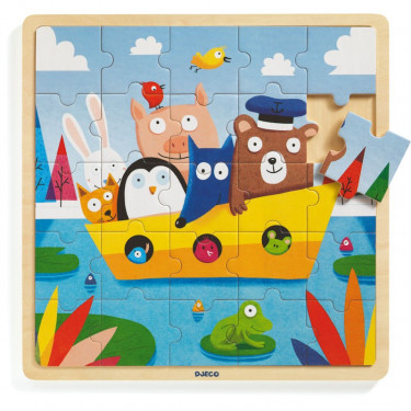 Puzzle en bois 'Puzzlo Boat' 25 pcs DJECO 1816
