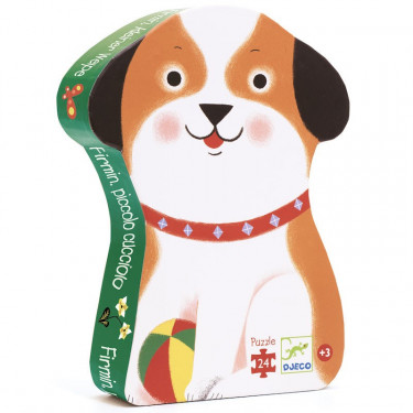 Firmin petit chien, puzzle 24 pcs silhouette DJECO 7280