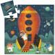 La navette spatiale, puzzle silhouette 16 pcs DJECO 7271