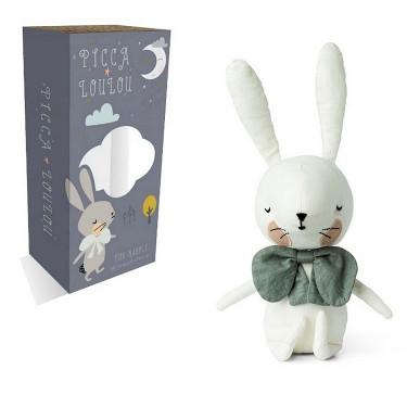 Lapin blanc en boîte cadeau Picca Loulou