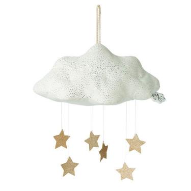 Nuage blanc avec étoiles Picca Loulou 34 cm