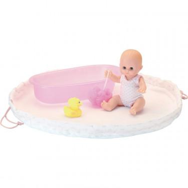 Mon baluchon de bain, poupée Petit Câlin 28cm Petitcollin
