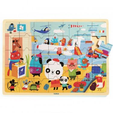 Puzzle en bois 'Puzzlo Aéroport' 35 pcs DJECO 1818