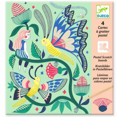 Cartes à gratter pastel 'Jardin fabuleux' DJECO 9719