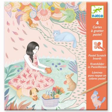 Cartes à gratter pastel 'Pique-nique' DJECO 9738