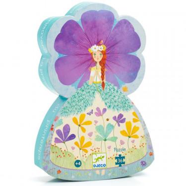 La princesse du printemps, puzzle 36 pcs silhouette DJECO 7238