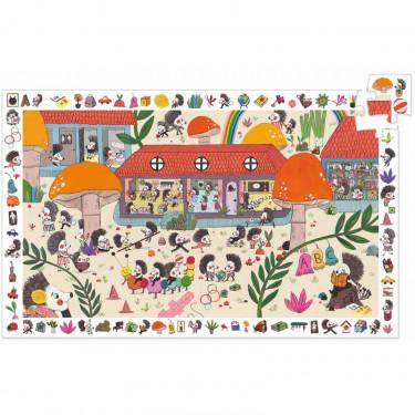 Puzzle observation 'L'école des hérissons' 35 pcs DJECO 7595