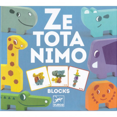 Animaux à empiler en bois 'Ze Totanimo' DJECO 6434