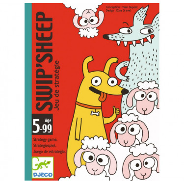 Swip'Sheep, jeu de cartes DJECO 5145