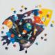 Puzzle silhouette 300 pcs 'Cosmos' Mudpuppy