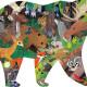 Puzzle silhouette 300 pcs 'Animaux de la forêt' Mudpuppy