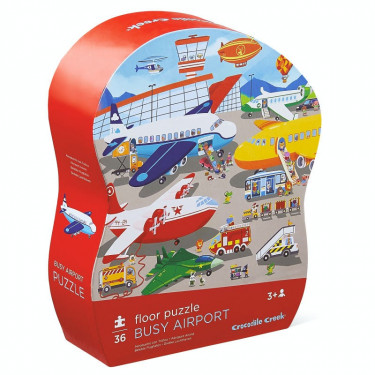Puzzle 36 pcs 'Aéroport animé' CROCODILE CREEK