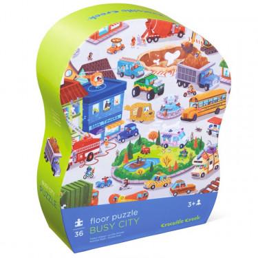 Puzzle 36 pcs 'La ville animée' CROCODILE CREEK