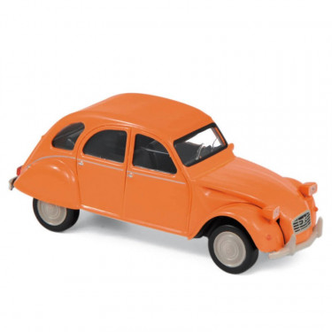 Citroën 2CV 6 club 1979 orange Norev 1-43ème