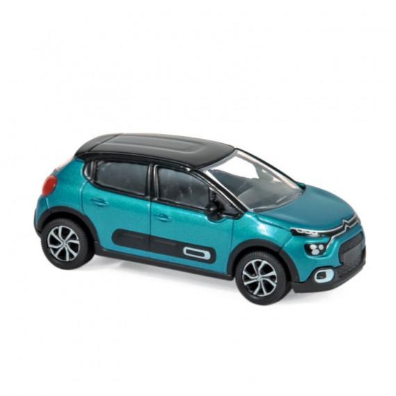 Citroën C3 2020 bleue et noire, voiture jouet Norev