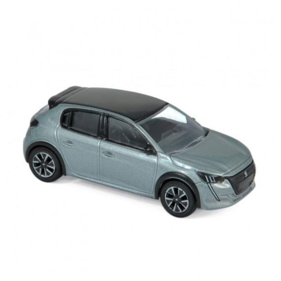 Peugeot 208 2019 gris artense, voiture jouet Norev