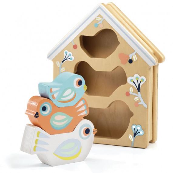 BabyBirdy, boîte à formes et oiseaux à empiler DJECO 6123