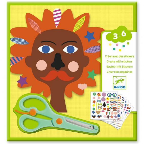 """Créer avec des stickers """"Coiffeur"""" DJECO 9045"""