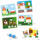 """Pliages et collages pour enfant """"Cache-cache"""" DJECO 9876"""
